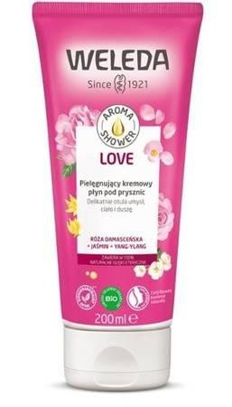 AROMA SHOWER LOVE Kremowy płyn pod prysznic RÓŻA+JAŚMIN+YLANG