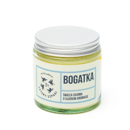 Naturalna świeca sojowa - kwiatowa - BOGATKA